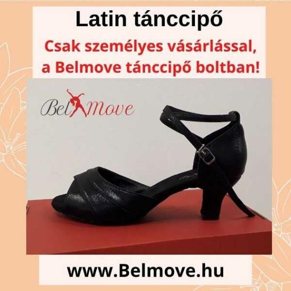 LC14 Belmove Latin cipő bokapánt, 5 cm-es sarok