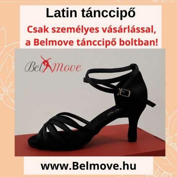 LC16 Belmove Latin cipő 7 cm-es sarok, bokapánt