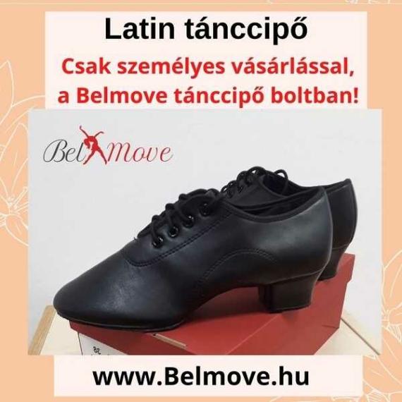 LC19 Belmove Latin tánccipő fekete színben