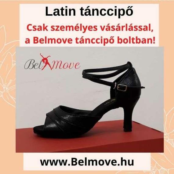 LC4 Belmove Latin cipő bokapánttal, fekete színű