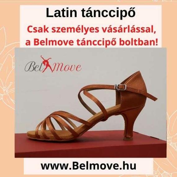 LC9 Belmove Latin tánccipő keresztpántos óarany színű