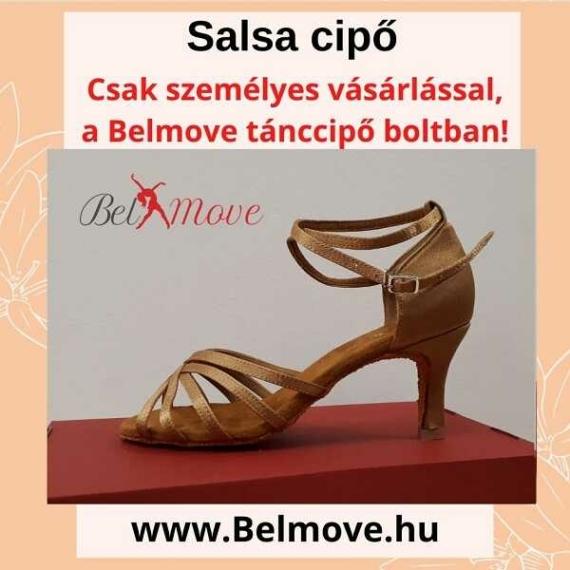 SC10 Belmove Salsa cipő bokapántos beige színben