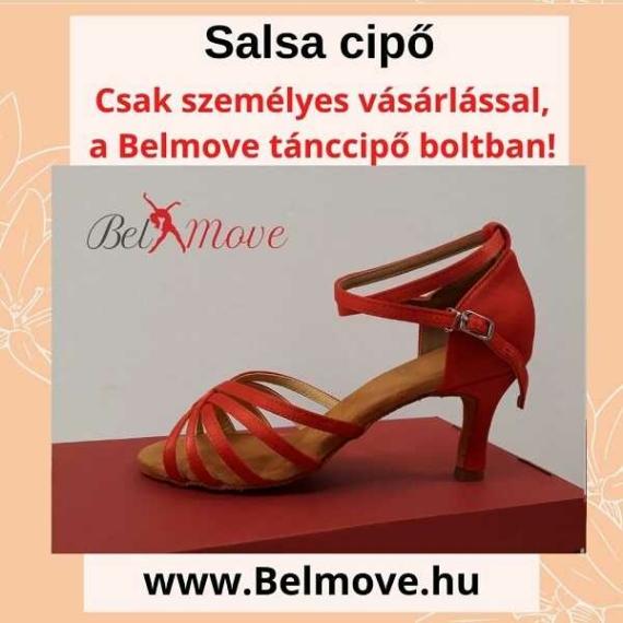 SC11 Belmove Salsa cipő bokapántos piros színű