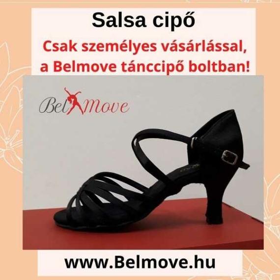 SC12 Belmove Salsa cipő keresztpántos fekete színű