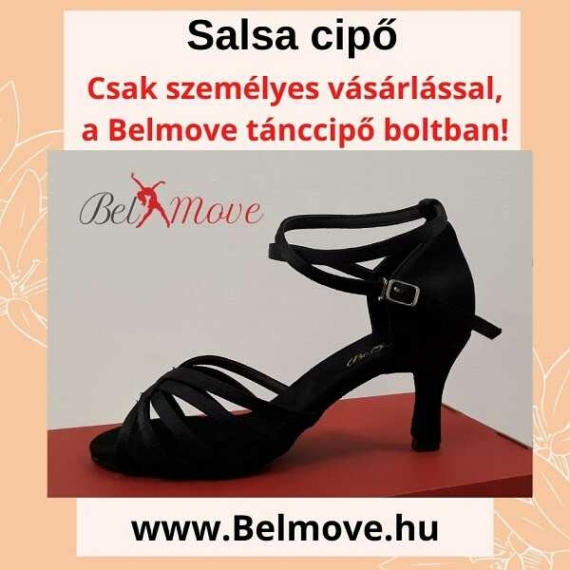 SC16 Belmove Salsa cipő 7 cm-es sarok, bokapánt