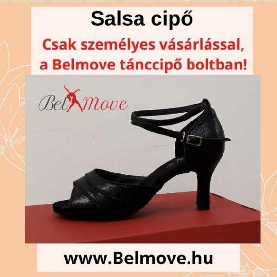 SC4 Belmove Salsa cipő bokapánttal, fekete színű