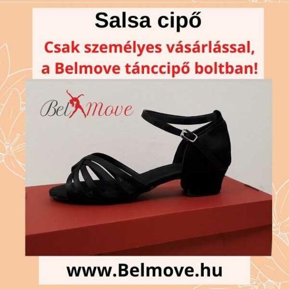 SC5 Belmove Salsa cipő 3 cm-es sarokkal feketében