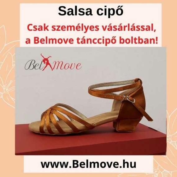 SC6 Belmove Salsa cipő 3 cm-es sarokkal óarany színben