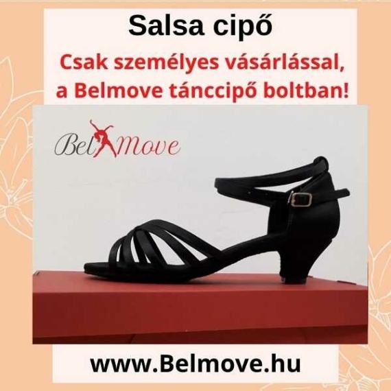 SC7 Belmove Salsa cipő 4 cm-es sarokkal feketében