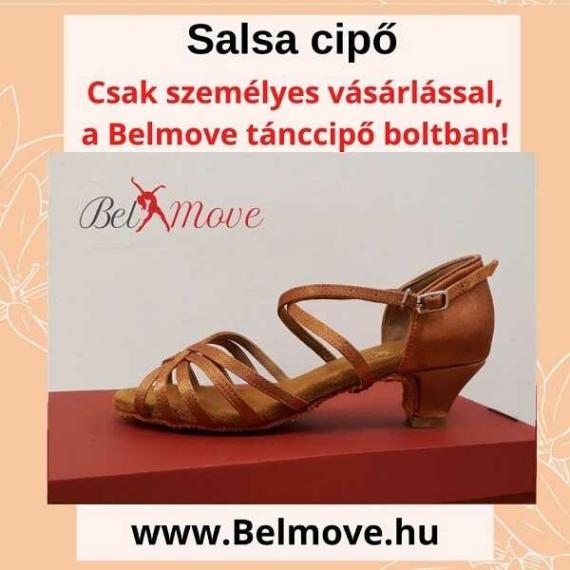 SC8 Belmove Salsa cipő 4 cm-es sarokkal óarany színben