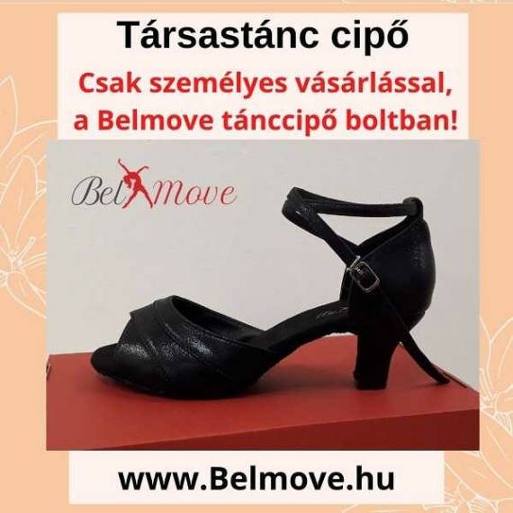 TC14 Belmove Társastánc cipő bokapánt, 5 cm-es sarok