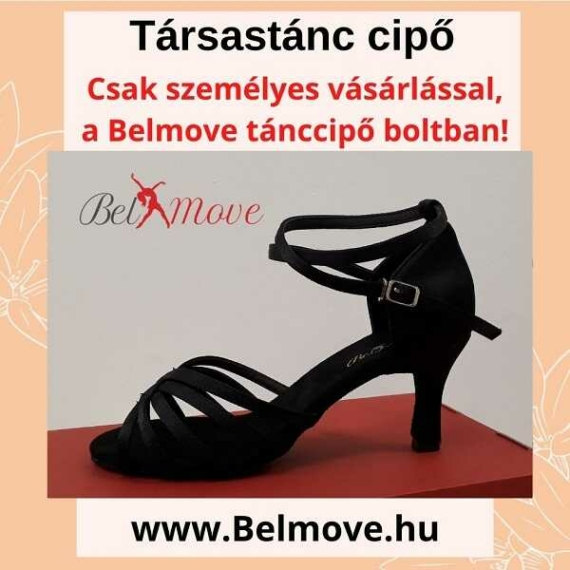 TC16 Belmove Társastánc cipő 7 cm-es sarok, bokapánt