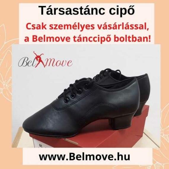 TC19 Belmove Férfi Társastánc cipő fekete színben