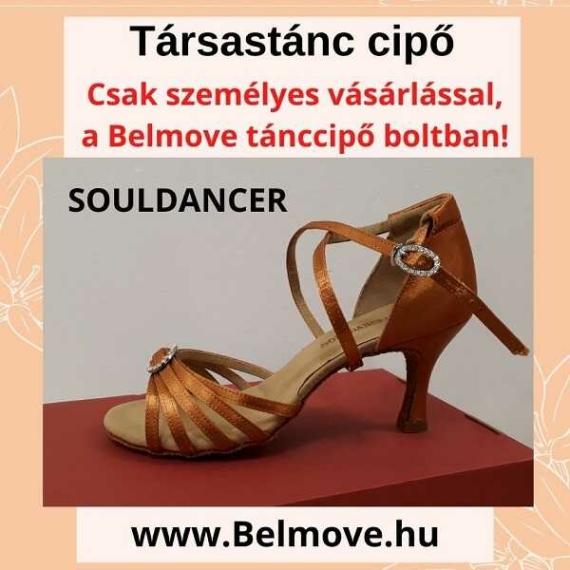 TC2 SoulDancer Társastánc cipő strasszokkal díszítve