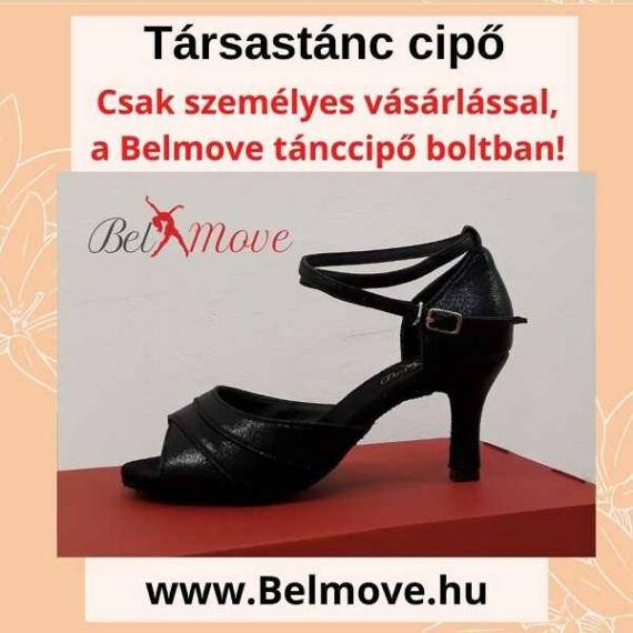TC4 Belmove Társastánc cipő bokapánttal, fekete színű