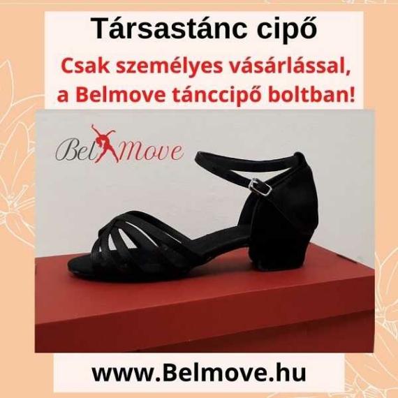 TC5 Belmove Társastánc cipő 3 cm-es sarokkal feketében