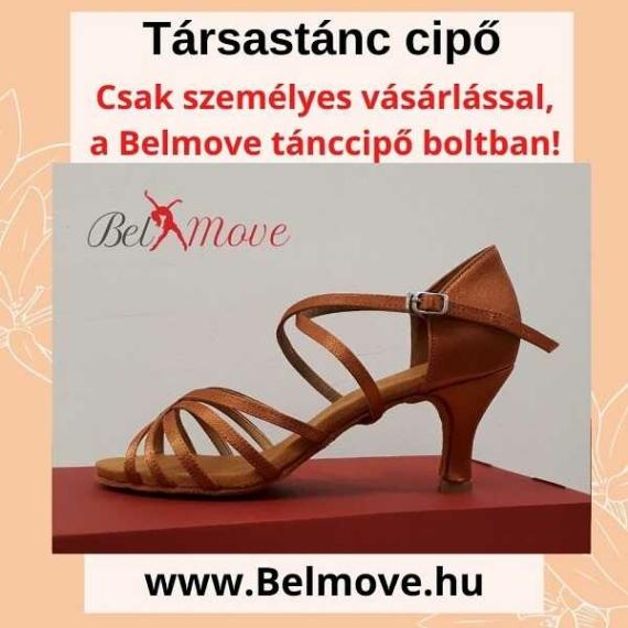 TC9 Belmove Társastánc cipő keresztpántos óarany színű